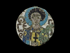 image Two-Sided Medallion with Saints
